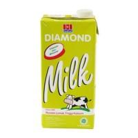 susu diamond uht low fat milk 1L