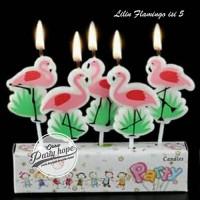 lilin ulang tahun flamingo / lilin karakter flamingo / lilin flamingo