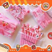 10pcs Pulpen Set Karakter Pink Free tempat pensil unicorn pvc