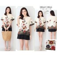DREAMY TOP - Atasan Batik Blouse Batik Modern Wanita Cheongsam JUMBO X