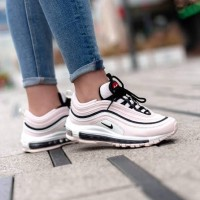 "NIKE AIR MAX 97 ""LIGHT SOFT PINK/BLACK-SUMMIT WHITE"" FOR WOMEN PREMIUM"