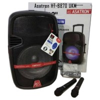 Speaker Portable Aktif Amplifier Wireless Meeting ASATRON HT-8870 UKM