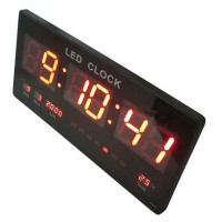 Jam Dinding Digital LED Meja LED Clock 4622 Merah