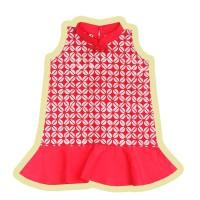 Pop Kidswear Ai Cheongsam Dress - dress anak batik tema imlek CNY - XS