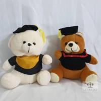 Boneka Sarjana Graduation Lucu Beruang Teddy Bear dengan Topi Toga