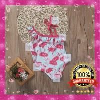 Bikini Anak Bayi Cewe Flamingo Lucu Baju Renang Swimsuit Swimwear