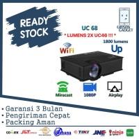 Proyektor Projector Unic UC 68 UC68 Lumens 1800 UC46 + Wifi 1080p LED
