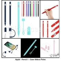 Apple Pencil 1 Soft Case Polos Cover Silikon Karet Sleeve Cap Silicone