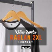 Kaos Raglan Polos Katun Bambu (Cotton Bamboo) XXL