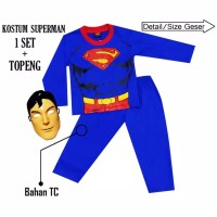 Baju kostum anak superman size 4-14(umur 2-7th)