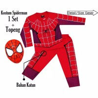 Kostum anak spiderman size 4-20(s)/2-10 th