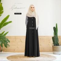 SABRINA DRESS BLACK BY AMIMA GAMIS SAJA GAMIS CASUAL SEMI FORMAL