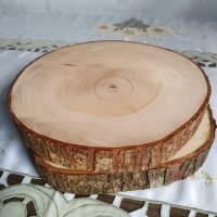 Wood slice diameter 20-21 cm talenan bahan dekorasi rustic