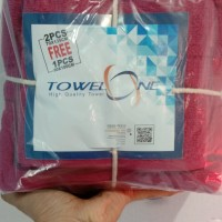 Handuk Set Towel One (Terry Palmer) merah maroon isi 3 pcs