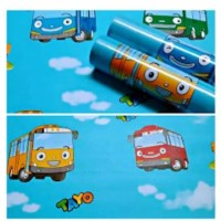 Home Wallpaper Dinding Motif Tayo Bus - Anti Air - Ukuran 45cm x10m