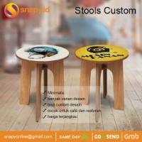 Round Stool | Bangku Bundar |Bangku Kayu | Bangku Custom