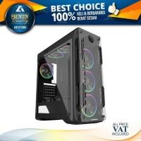 Case Casing PC Gamemax G510 Optical Black Midi Tower Gaming.