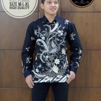 Peksi Dirgan Abu Kemeja Batik Pria Lengan Panjang by SM-Batik