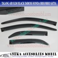 Talang Air Side Door Visor Slim Honda Brio Black Model Embos