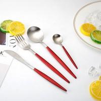 Terlaris Set Peralatan Makan Stainless Steel 4 pcs