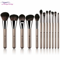 Terlaris BT 12Pcs / Set Brush Warna Coklat untuk Eyeshadow /