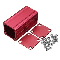 Sos Red Extruded Aluminium Proyek Box Elektronik Enclosure Case