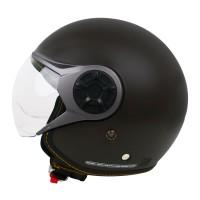 Cargloss YRM Micrometric Buckle Helm Half Face - Espresso Brown Doff