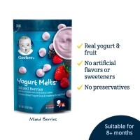 Gerber Baby Food Yogurt Melts Mixed Berries 28g
