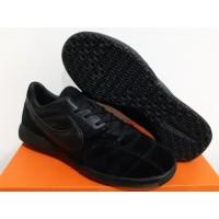 Sepatu Futsal Nike Tiempo Premier II Sala Suede All Black