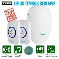 Bel Rumah KERUI M521 Wireless Multi Tone Doorbell 2 Transmitter F51