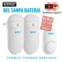 Bel Rumah Wireless KERUI M518 Doorbell Bel Tanpa Baterai 2 Receiver