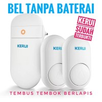 Bel Rumah Wireless KERUI M518 Doorbell Bel Tanpa Baterai 2 Transmitter