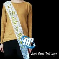 selempang bride to be lace gold / Samir / sash / Selempang Satin