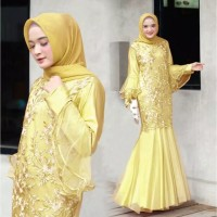 Gamis Pesta Brukat Gamis Lebaran Gamis Kondangan Maxi Dress Jubaedah
