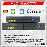 DVR NVR EDGE 16 4K 5MP Hybrid Analog & Onvif IP Camera CCTV P6SPRO