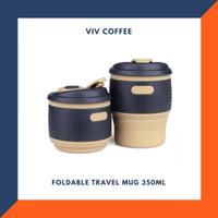 Gelas Cangkir Lipat Silikon Foldable Travel Mug 350ml