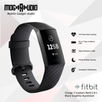 Fitbit Charge 3 BLACK / GRAPHITE ALUMINIUM TRACKER (S & L Band)