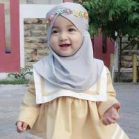 Jilbab Baby Syria Renda Jasmin/Kerudung Anak/Hijab Bayi Newborn/Khimar