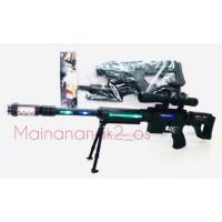 Mainan Tembak laser gun senapan batere pistol suara
