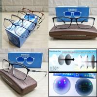 kacamata frame rollies ringan + lensa photocromic rubah warna