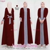 Hanada Dress / Maxi Dress / Wanita Gamis Wanita Bahan Moshcrepe