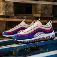 Sepatu Nike Air Max 97 Pink Navy Crimson Tint Plum Chalk For Women