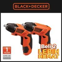 [Beli 2 Lebih Hemat] Black + Decker Obeng Screwdriver Cordless