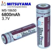 Baterai MS-18650 6800mAh / Mitsuyama Li-ion Rechargeable Battery 3.7V