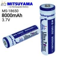 Baterai MS-18650 8000mAh / Mitsuyama Li-ion Rechargeable Battery 3.7V