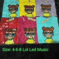 Pakaian Baju Atasan Kaos LOL LED Music Bagus Lucu Anak Perempuan Cewek