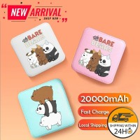 20000mAh We Bare Bear Powerbank Cute Portable Mini Power Bank