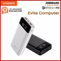 Powerbank VEGER Q21 20000 mAh LED Digital Display