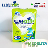 Popok Dewasa Unisex Size M isi 10 / Adult Diapers Tape Type - WECARE
