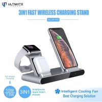Ultimate 3in1 Fast Wireless Charger Stand for Phone + Watch + Airpods